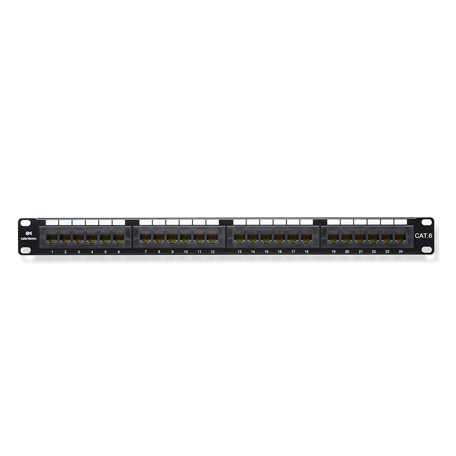 amazon com ul listed cable matters rackmount or wallmount 24 port rh amazon com