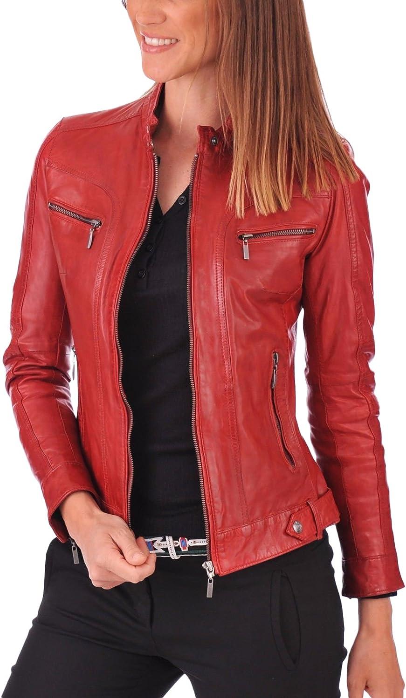 Women Leather Jacket Coat Genuine Lambskin Pure Leather Bomber Biker Jacket LFWN462