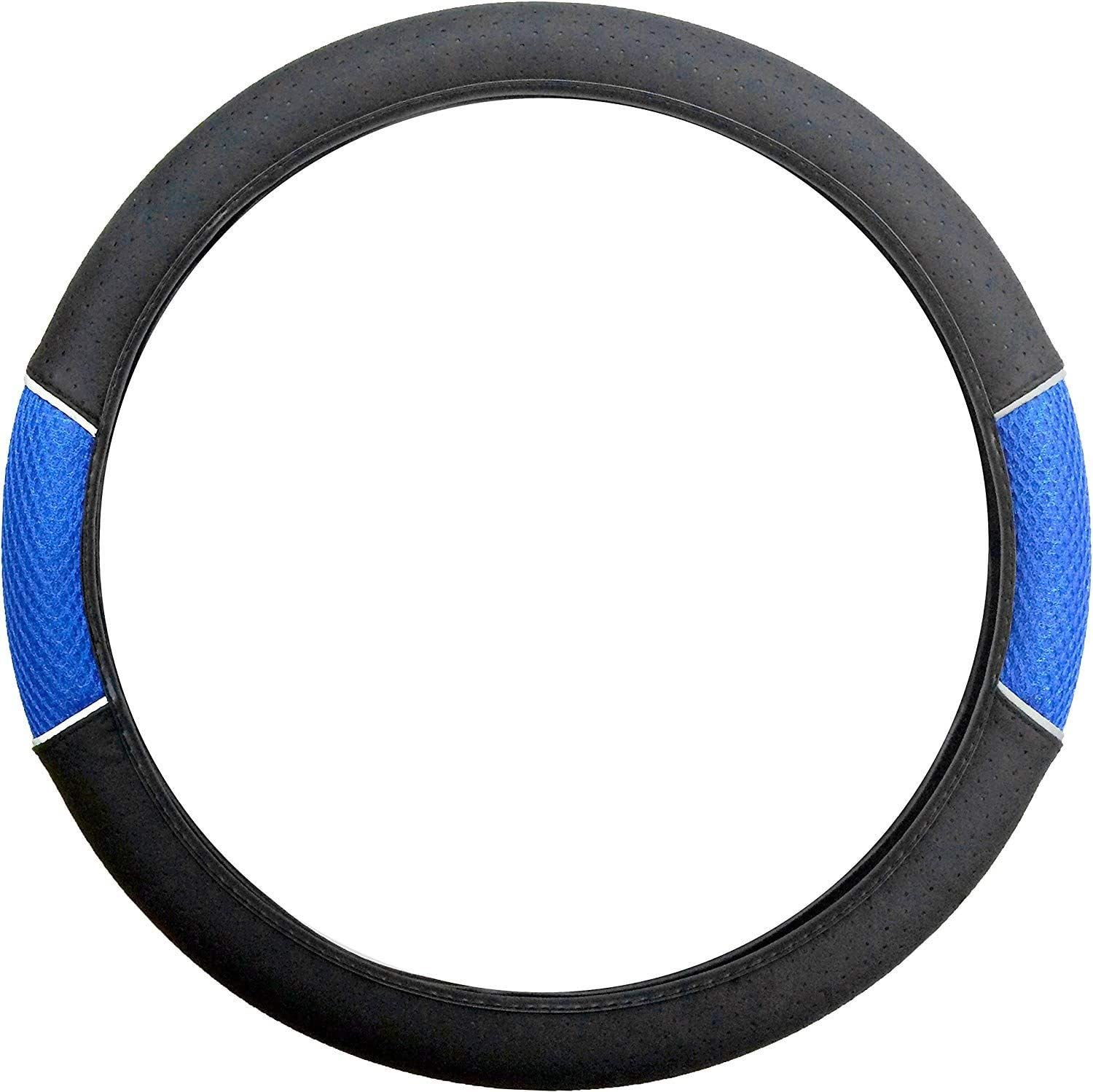 UKB4C Blue /& Black Steering Wheel /& Front Seat Cover set for Vauxhall Tigra All Models