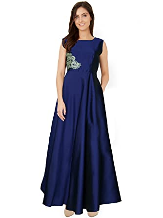 Designer Blue Gown for Girls and women with XXL size: Amazon.in ...