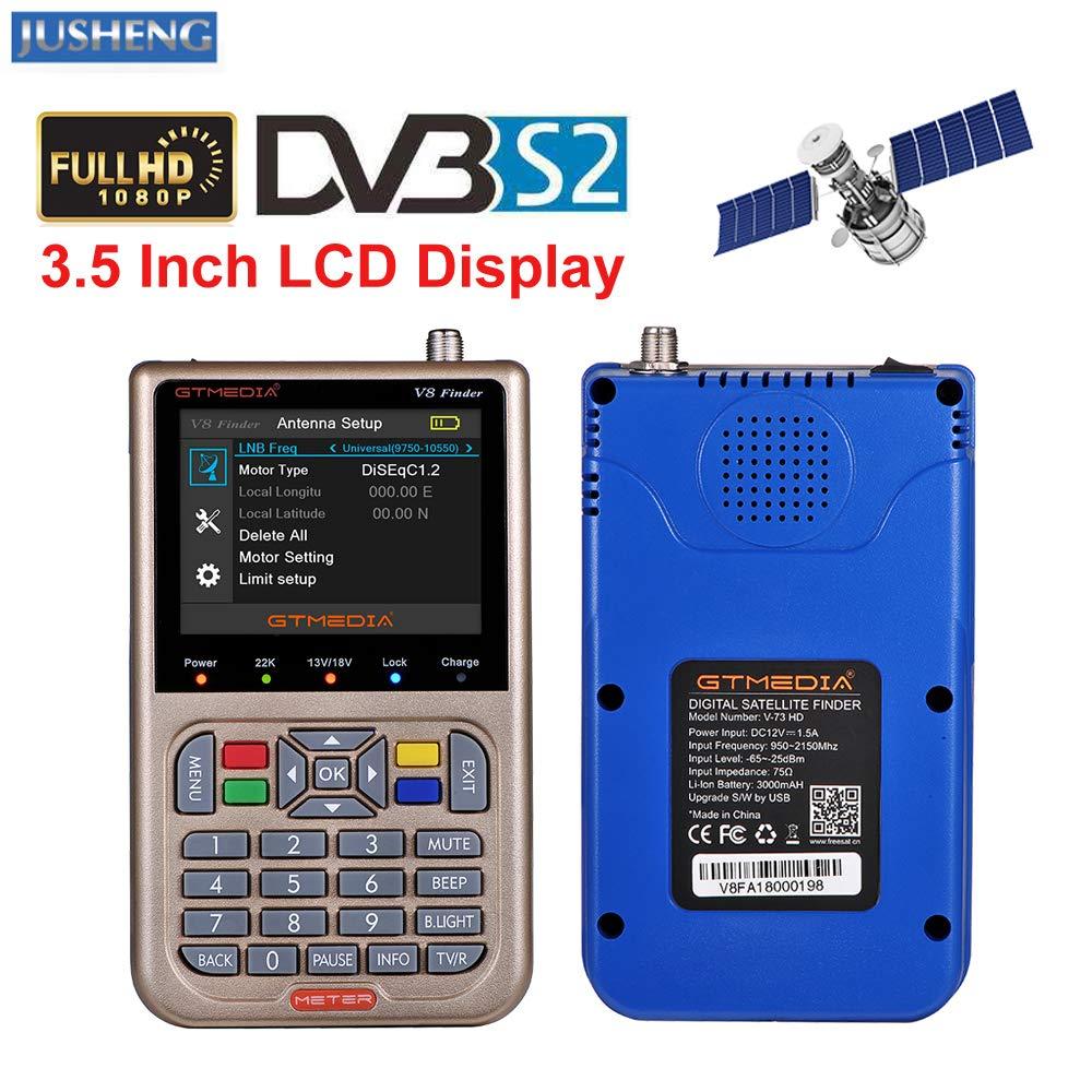 JUSHENG Newest GTMEDIA V8 Finder Digital Satellite TV Signal Finder Meter (V-73HD) DVB-S2 FTA LNB Signal Meter Pointer Satellite TV Receiver Tool with 3.5' LCD by JUSHENG (Image #2)