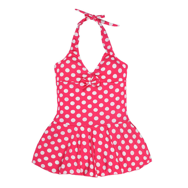 Girls Swimwear Junior Skirted Bathing Suit One Piece Swimsuit Bathers Skirt