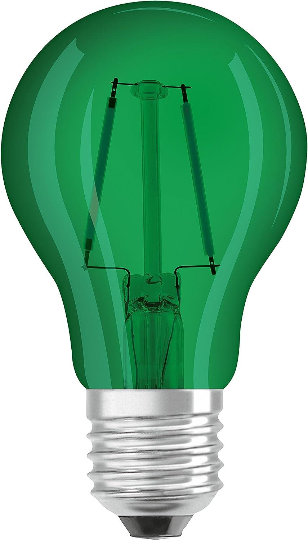 in Kolbenform mit E27-Sockel 1er-Pack Dekoratives blaues Licht und Design Ersetzt 15 Watt Osram LED Star Classic A D/écor Blue Lampe