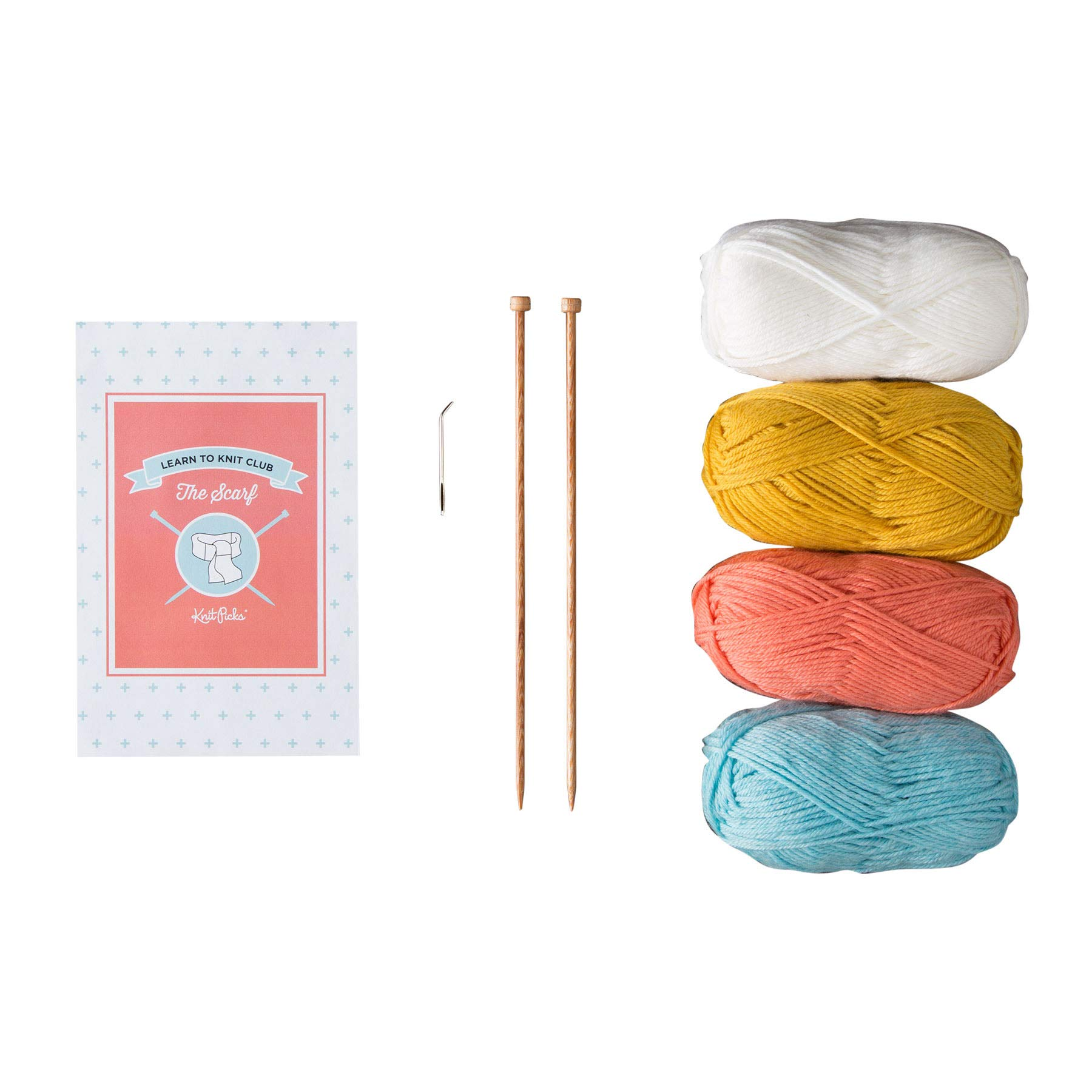 Knit Picks Learn to Knit Club: The Scarf - Beginner Knitting Kit