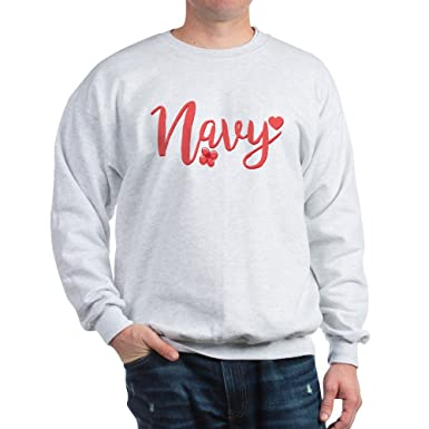 45dd0e18 Image Unavailable. Image not available for. Color: CafePress Navy Girly Text  Classic Crew Neck Sweatshirt. Roll over image to ...