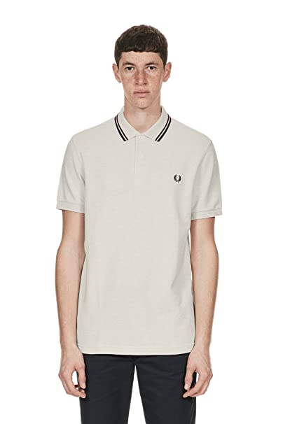 Fred Perry - Polo - para Hombre Blanco Cereal/White/Marl XX-Large ...