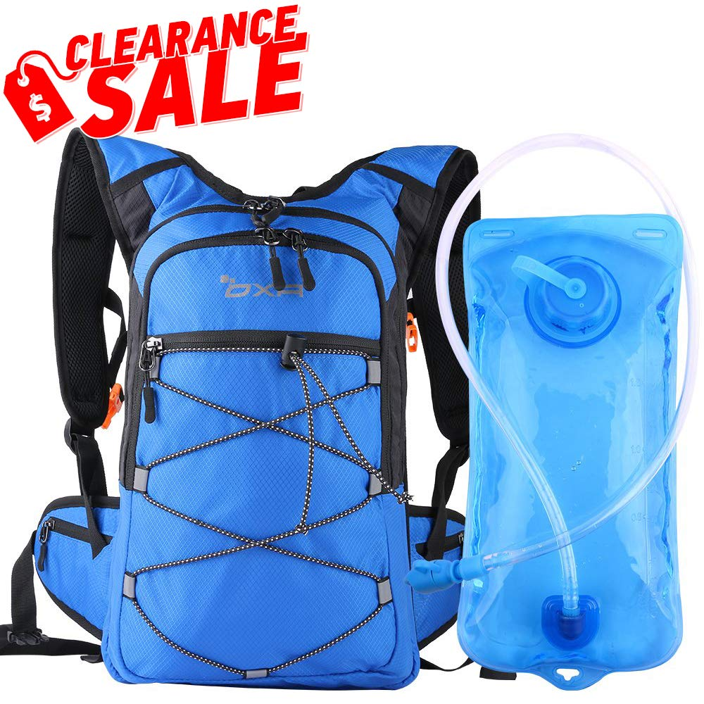 OXA Hydration Backpack with 2L Water Bladder, Thermal Insulation Layer Keeps Water Cool up to 4 Hours , for Hiking, Running, Cycling, Climbing
