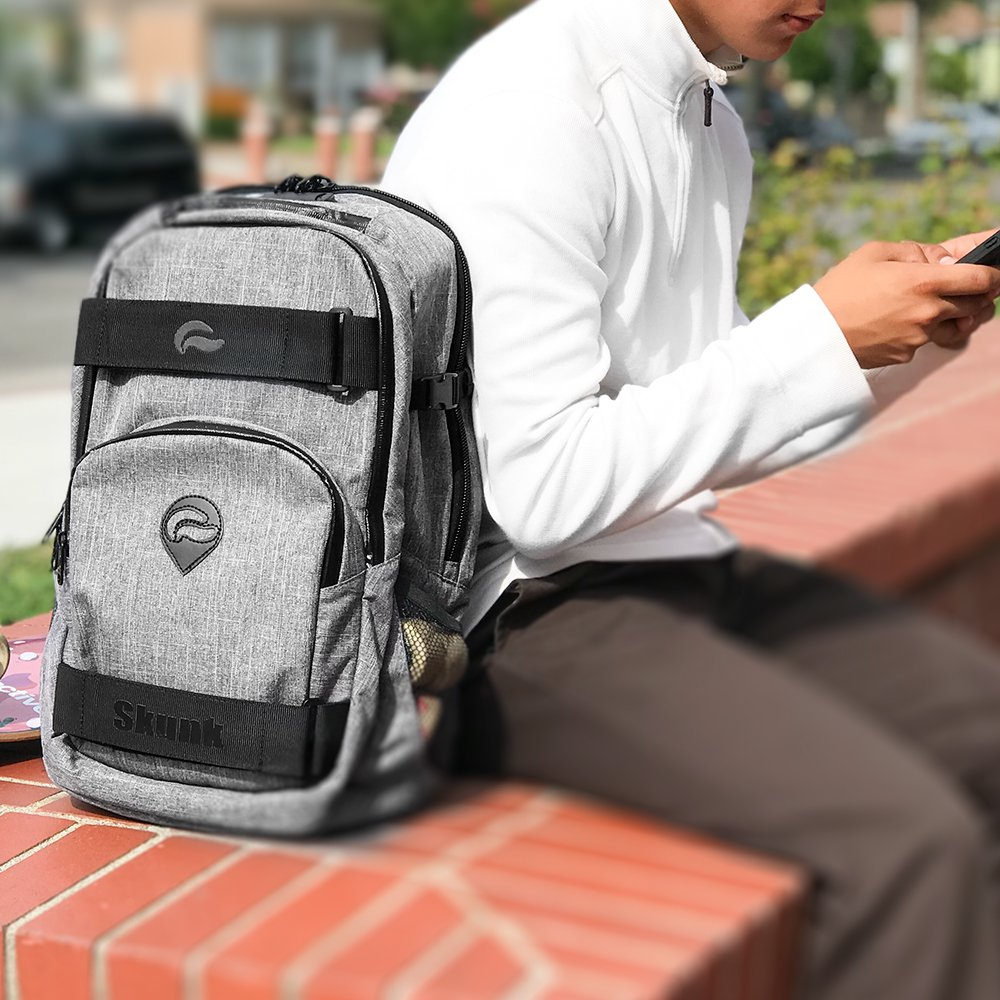 Water Proof with Combination Lock Smell Proof Skunk Nomad Skaters Backpack