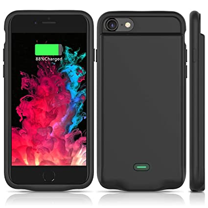 low priced 44b7e 9d876 Battery Case for iPhone 7/8, Super Slim, Lightweight, Durable and Fully  Protective Charger Case, ideasonics Pro 2800mAh Smart Battery case