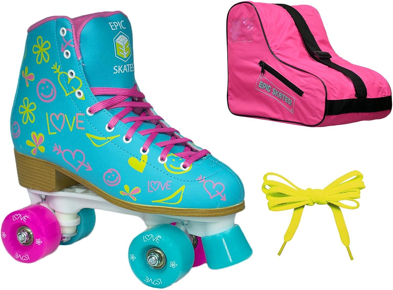 Epic Splash ハイトップ 屋内/屋外 4輪ローラースケート 3個 バンドル - レディース  Ladies 5