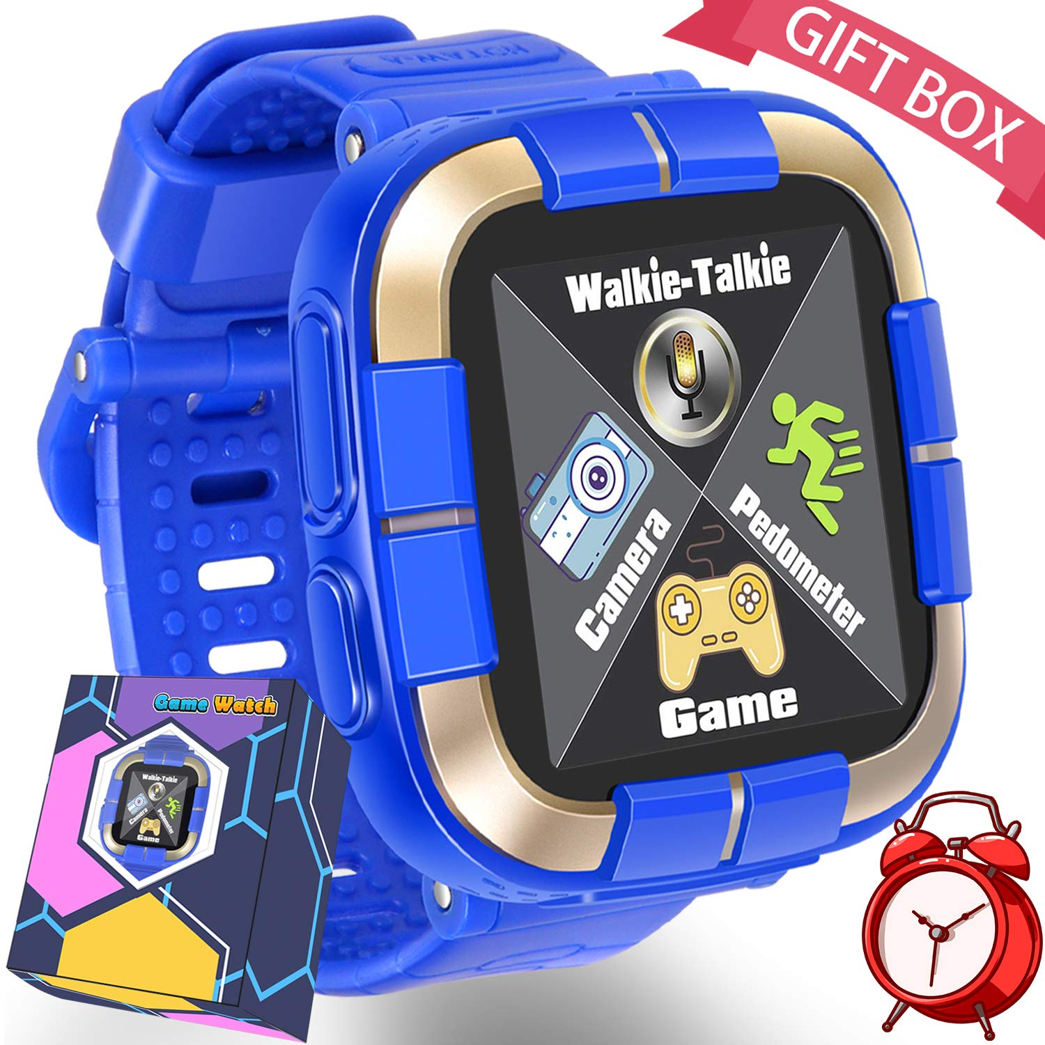 Kids Smart Watch for 3-12 Years Boys Girls Toddlers Game Smartwatch with Voice Chatting Pedometer Beauty Camera Flashlight for Kids Toys Bracelet ...