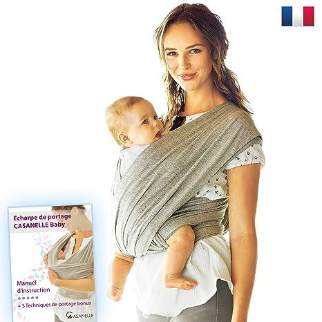 Echarpe de portage bebe   porte bebe gris léger ☆Offert livre ebook tutos    5 a05b62ef03c