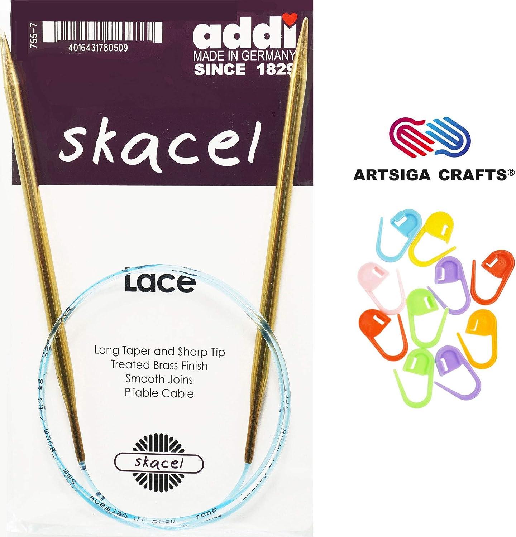 100cm Knitting Needle; Size US 00 addi Turbo Lace Circular 40-inch 1.75 mm