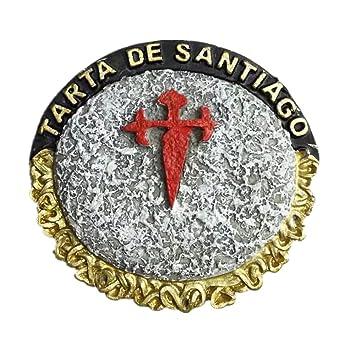 Tarta de Santiago Chile resina 3d fuerte imán para nevera recuerdo ...