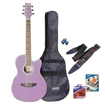 Ashton spfg48ls 3/4 Tamaño principiantes Guitarra con accesorios Color Lila