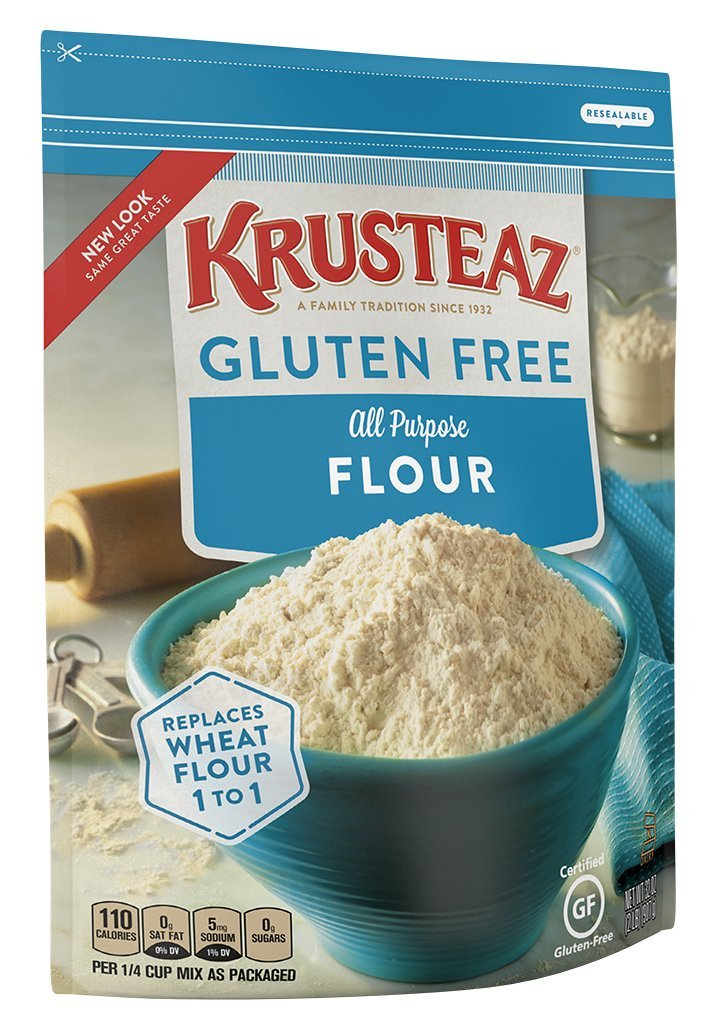 Krusteaz Gluten Free All Purpose Flour Mix, 32-Ounce Bags (Pack of 8) by Krusteaz