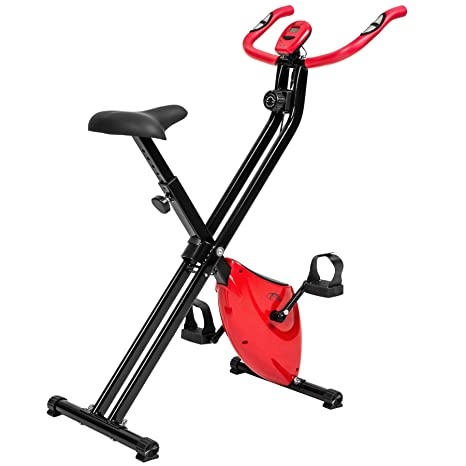 TecTake Maquina Fitness Plegable Bicicleta ESTATICA + Monitor ...