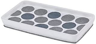 Avanti Linens 13870TY WHT Dotted Circles Shower Tray, White