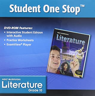 Holt McDougal Literature Grade 10 Teacher One Stop DVD-ROM: Holt ...