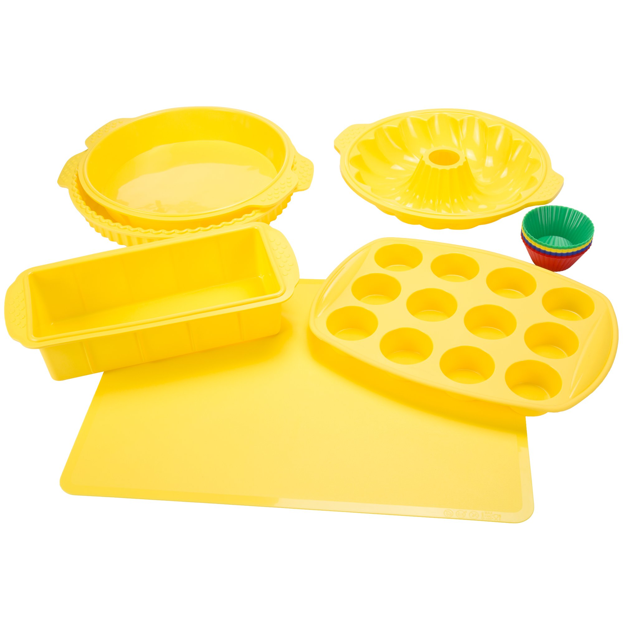 Silicone Bakeware Set, 18-Piece Set including Cupcake Molds, Muffin Pan, Bread Pan, Cookie Sheet, Bundt Pan, Baking Supplies by Classic Cuisine by Classic Cuisine
