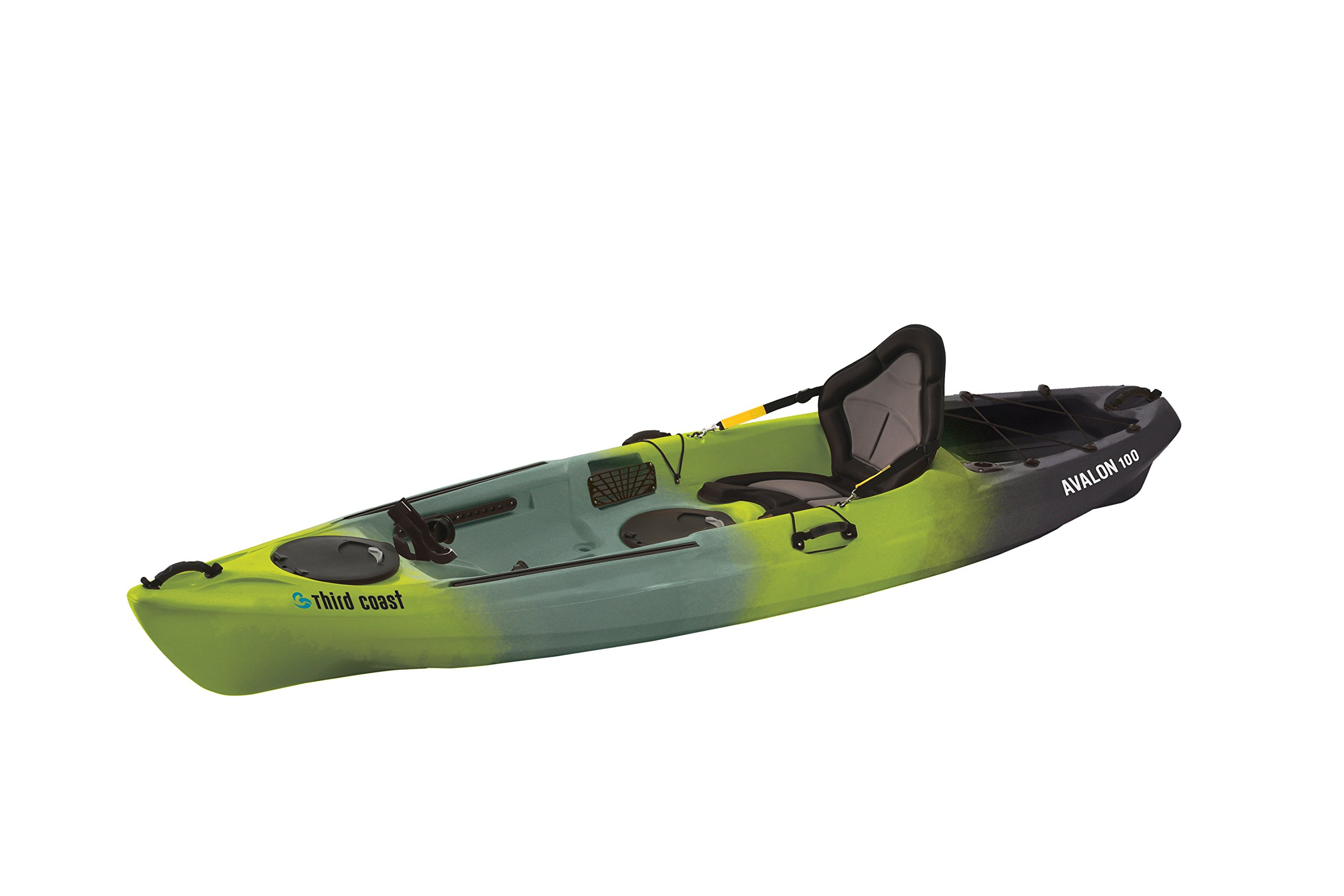 Third Coast Avalon 100 Sit On Angler Kayak (Citron/Black/Gray) by Third Coast