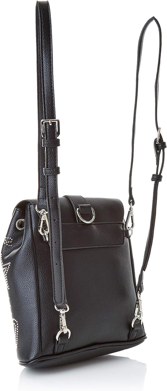 Schwarz 10.6x24x22.3 cm Desigual Damen Bols/_galaxy Mini Backpack Rucksackhandtasche Negro