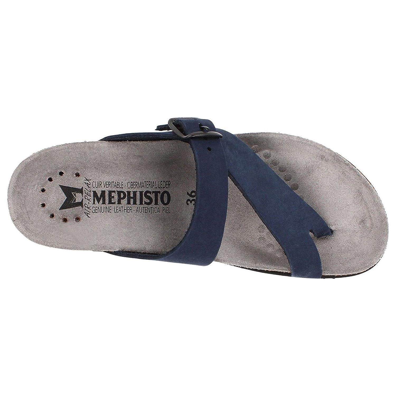 Mephisto Damen Helen Sandalebuck 6045 Navy Damen Mephisto Zehentrenner Blau 98e501