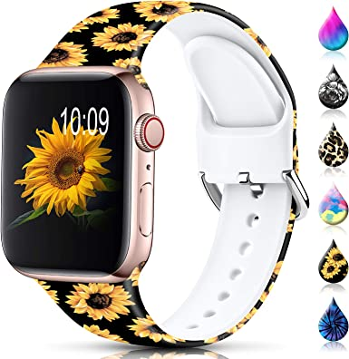Sport Band Apple Watch, Floral Silicone, Sunflower