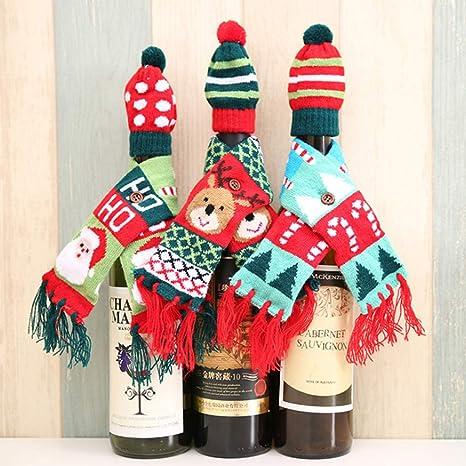Chiic - Lote de 3 bolsas de Navidad para botella de vino ...