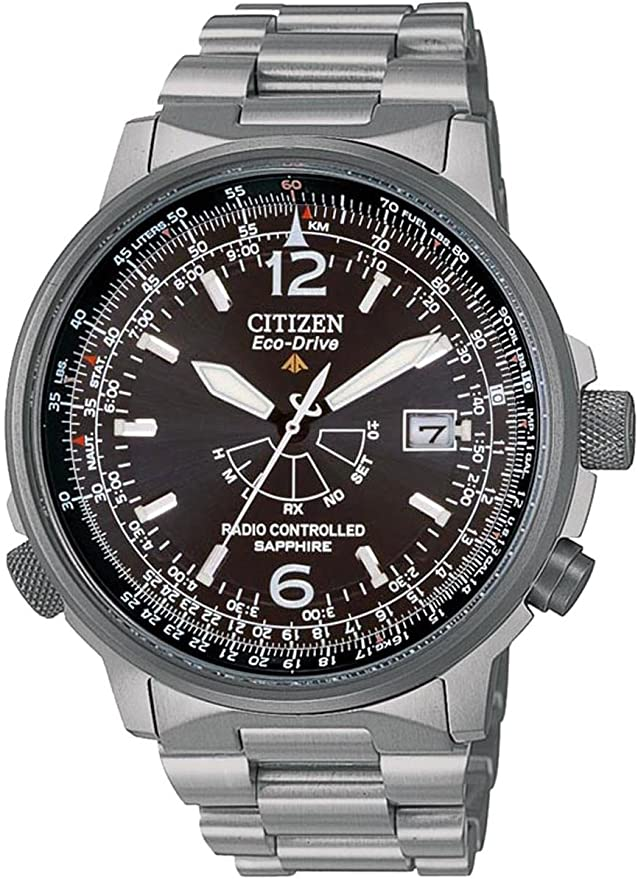Citizen Pilot Radiocontrollato Titanio As2031 57e Orologio Da Polso Uomo Amazon It Orologi