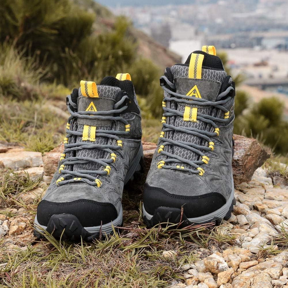 Botas de Monta/ña para Hombre Zapatillas de Senderismo Impermeable Antideslizante Zapatos de Deporte Exterior Calzado de Alta Ca/ña Trekking Sneakers