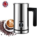 Aicok Milk Frother, Stainless Steel Electric Milk Steamer - 300ML Large Capacity, Heater Foamed for Coffee, Latte, Cappuccino