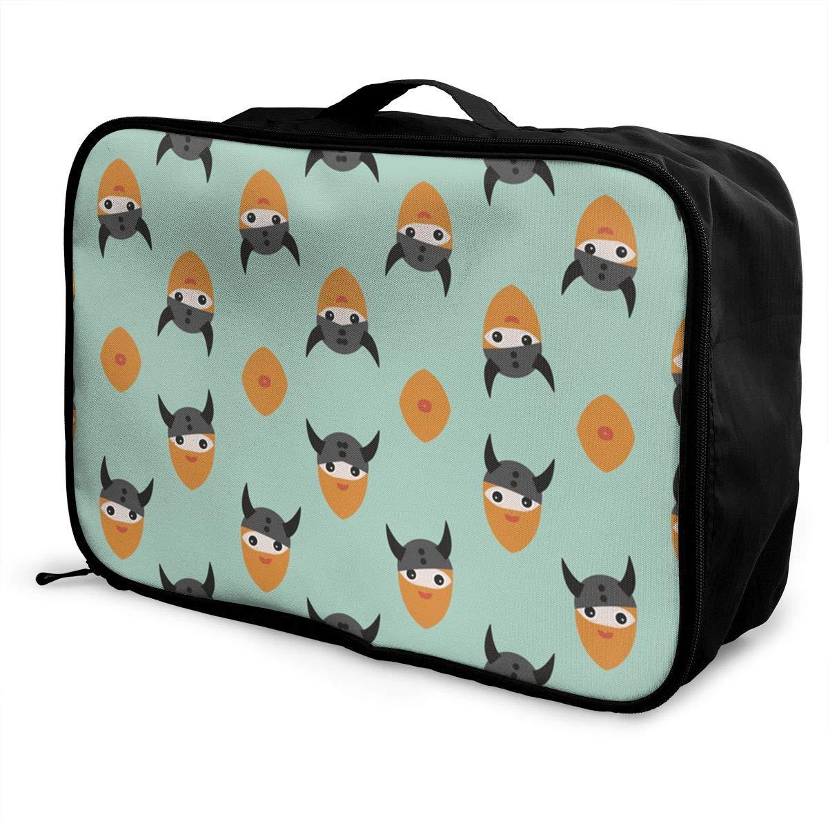 Travel Duffel Bag Waterproof Fashion Lightweight Large Capacity Portable Luggage Bag Scandinavian Nordic Viking