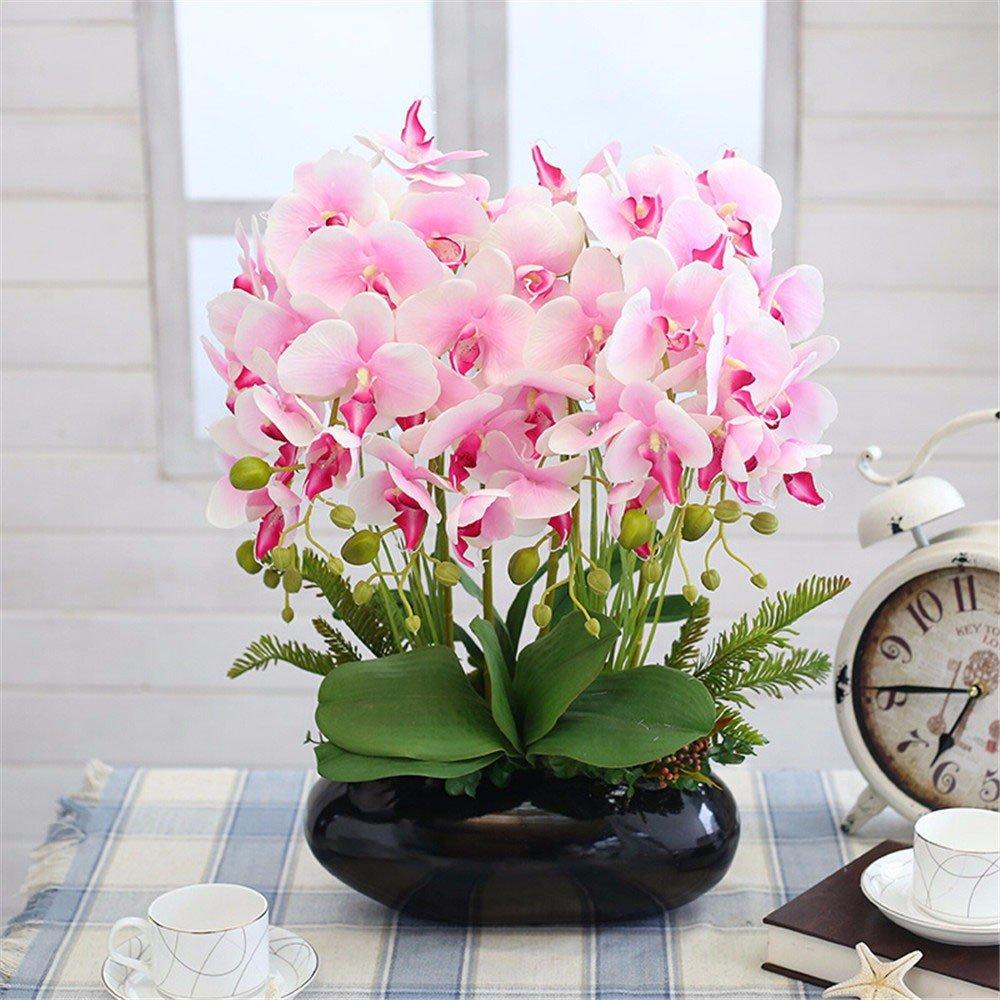 situmi人工フェイク花Orchidホーム装飾、ピンクシルク布 B071VPSYFF