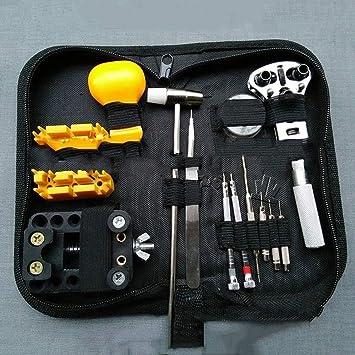 Práctico conjunto de herramientas para soplado de cuero Kit de reparación para reloj Guadaña abierta de tres garras Quitar el abridor de correas: Amazon.es: ...