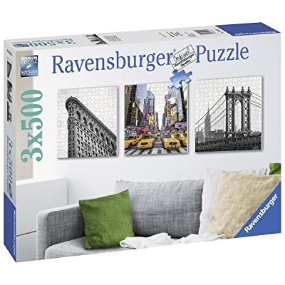 Ravensburger - Impresiones de New York, Rompecabezas de 3 x 500 Piezas Cuadrados, 150 x 50 cm (199235): Juguetes y juegos