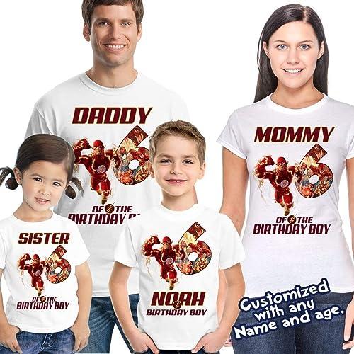 Amazon Flash Birthday Shirt SuperHero T Handmade