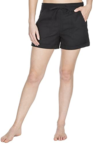 Causeway Bay Ladies Linen Blend Pull On Ribbed Waist Shorts