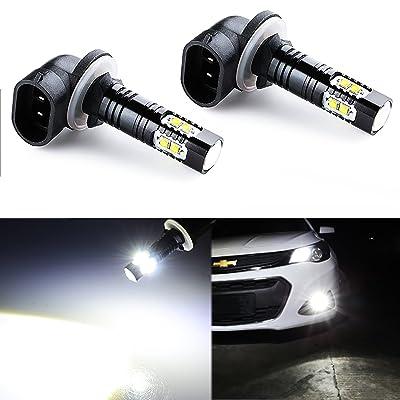 JDM ASTAR Bright White Max 50W High Power 881 LED Fog Light Bulbs: Automotive