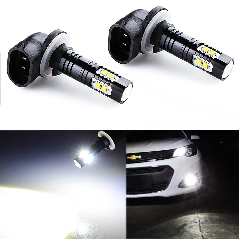 JDM ASTAR Extremely Bright Max 50W High Power 881 LED Fog Light Bulbs for DRL or Fog Lights, Xenon White