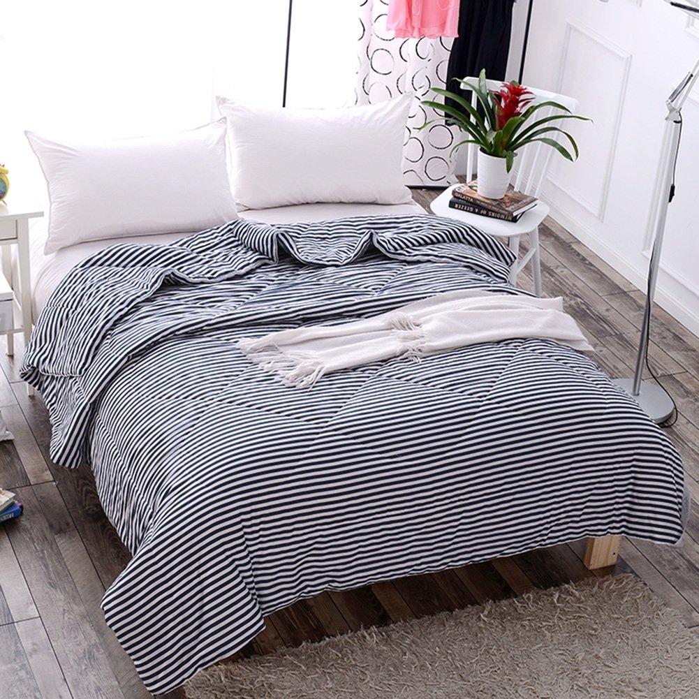 GRJH® キルト、豪華な冬暖かく保つ厚い個々のダブル100%綿ライトソフトホームホームテキスタイル学生寮の部屋150×200cm 良い毛羽立ち、ソフトタッチ ( 色 : Stripes , サイズ さいず : 150*200cm 2.2kg ) B07BP1NC6L Stripes 150*200cm 2.2kg