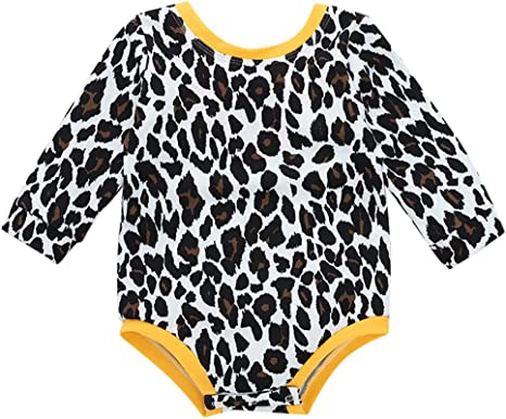 Xmiral Recién Nacido Mameluco con Estampado Leopardo Pijama Bebés ...