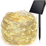 أضواء خيط شمسي 200 LED مقاومة للماء للاستخدام الخارجي في الحديقة من Ankway