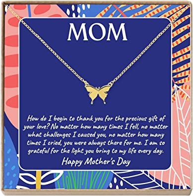 Flowers Necklace  Mom Necklace  Mothers Day Gift  Personalized Gift  Floral Necklace  Christmas Gift for Mom  Dainty Necklace 38 MXE