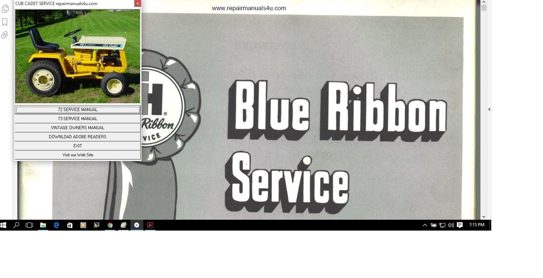 Amazon.com : Cub Cadet Repair Manuals 72 - 147 Service Manual 72, 73, 104,  105, 107, 107 124, 125, 126, 127, 147 : Everything Else