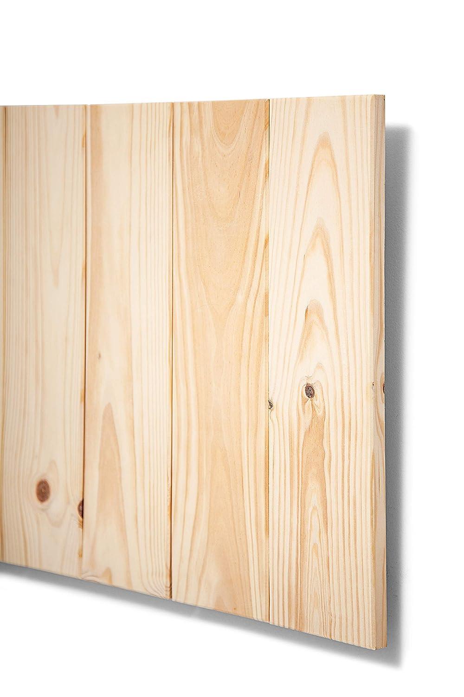 SUENOSZZZ - Cabecero de Madera ANETO Color Crudo para Pared. Cabecero de Tablas Verticales. Estilo Vintage, para Camas de 90 y 105 | Cabeceros de Cama ...