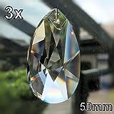 Con cristalli arcobaleno, Wachtel 50mm 3pezzi stelle goccia pendolo-Feng Shui-esoterica-finestra gioielli taglio-30% PbO cristallo al piombo-pienamente-Cristalli appesi-lampadario in cristallo appesi-Lampada