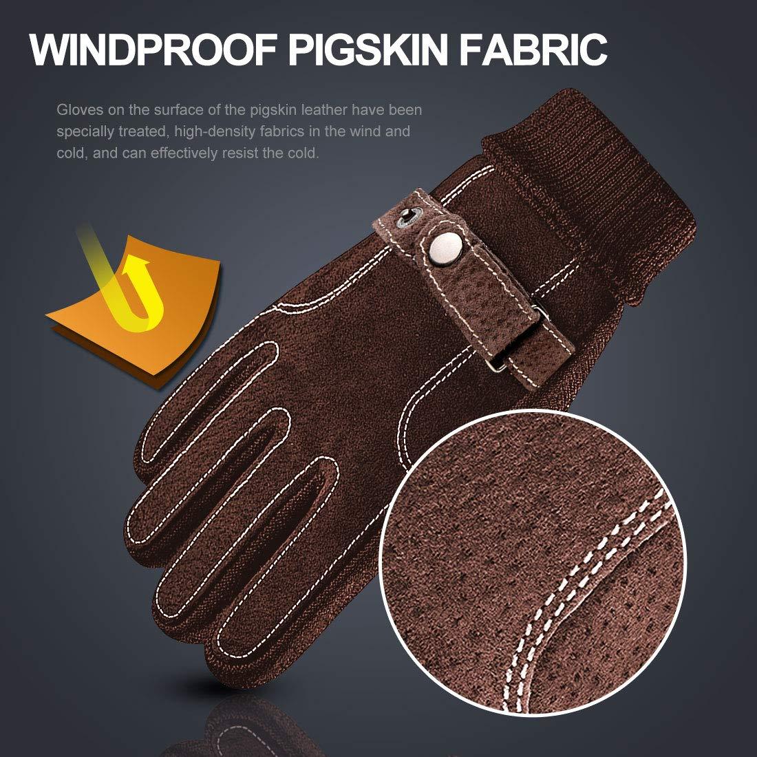Winter Outdoor Touchscreen Handschuhe f/ür Herren BOYOU Herren Warmen Windproof Radfahren Handschuhe
