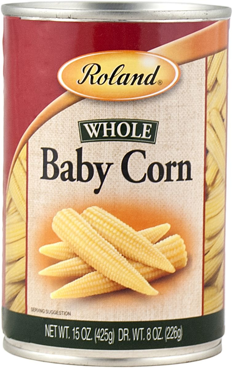 Roland Foods Baby Corn, Small Whole, 15 Ounce (Pack of 24)