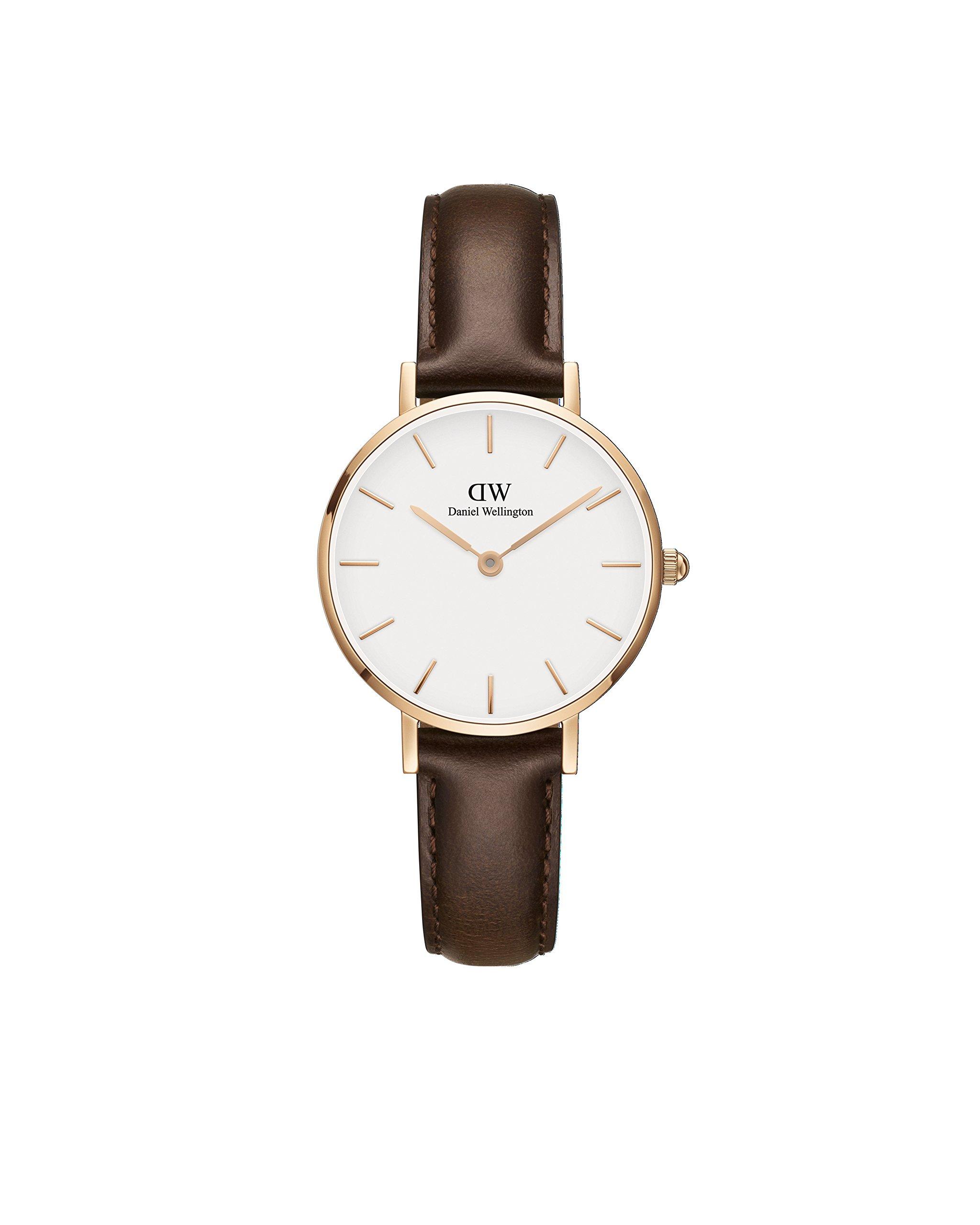 Daniel Wellington 'Classic Petite' Quartz Gold and Leather Casual Watch, Color:Brown (Model: DW00100227) by Daniel Wellington